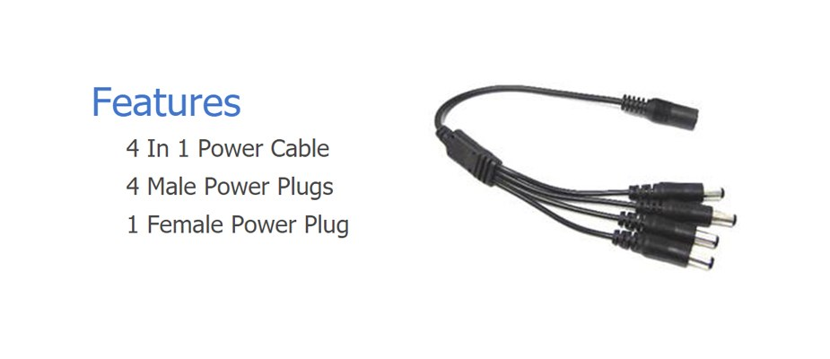 PCAB41 4 In 1 Power Splitter Cable - Desktop Overview 1