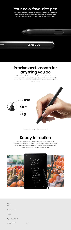 Samsung Galaxy Tab S4 S Pen - Black - Desktop Overview 1