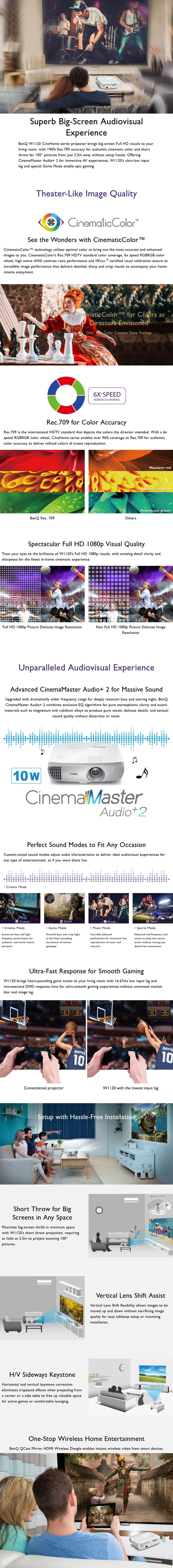 BenQ W1120 Full HD Home Theatre DLP Projector - Desktop Overview 1