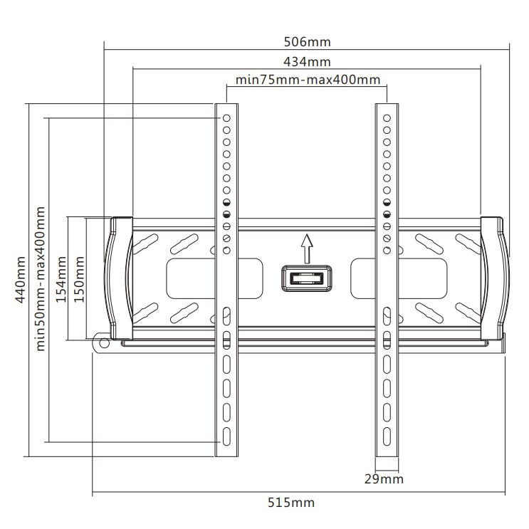 """TIXX F500 400x400mm Flat Wall Mount - For 32"""" to 55"""" Panels (45KG) - Desktop Overview 1"""