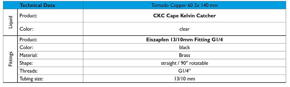 Alphacool Eissturm Hurricane Copper 45 2x120mm Watercooling Kit - Desktop Overview 3