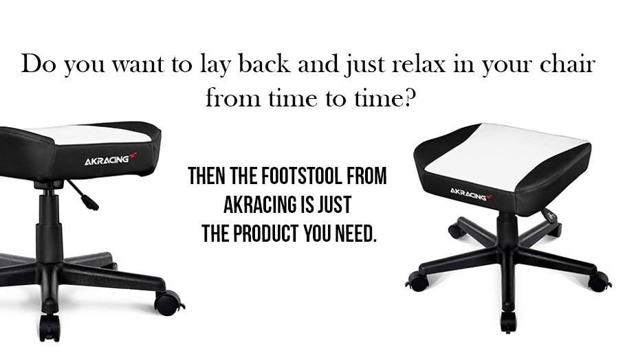 AK Racing Footstool - White Display 1
