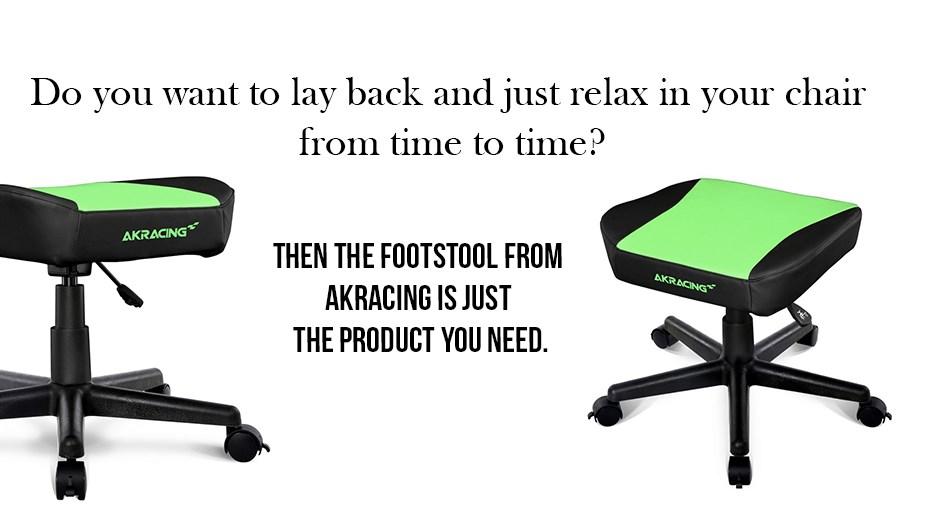AK Racing Footstool - Green Display 1
