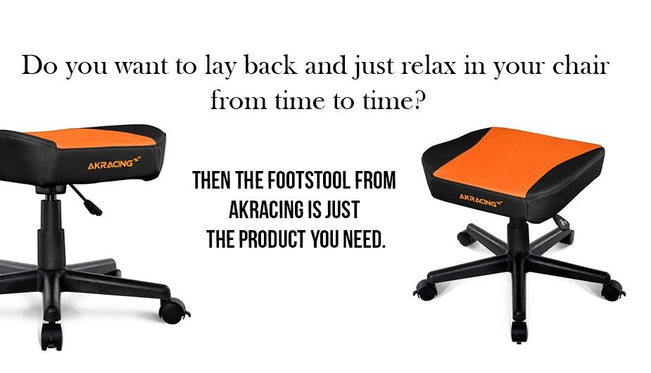 AK Racing Footstool - Orange Display 1