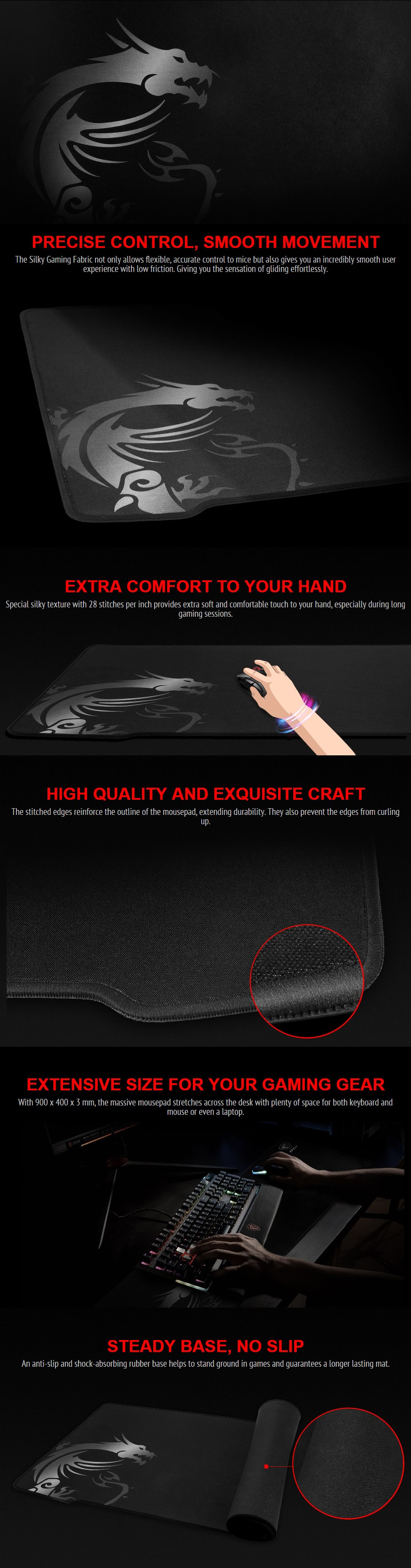 MSI Agility GD70 Gaming Mousepad Display Overview 1