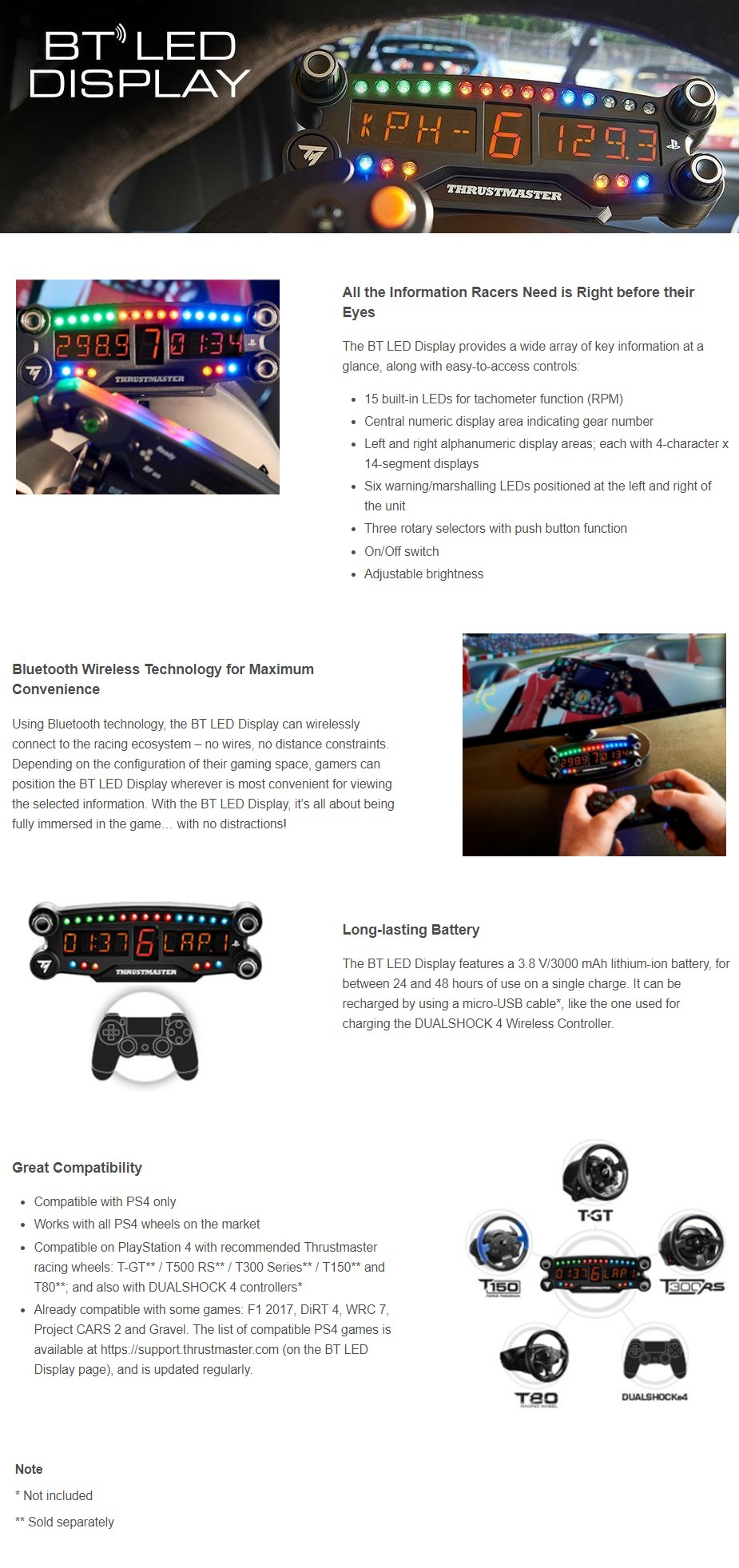 Thrustmaster BT LED Display for PlayStation 4 - Desktop Overview 1