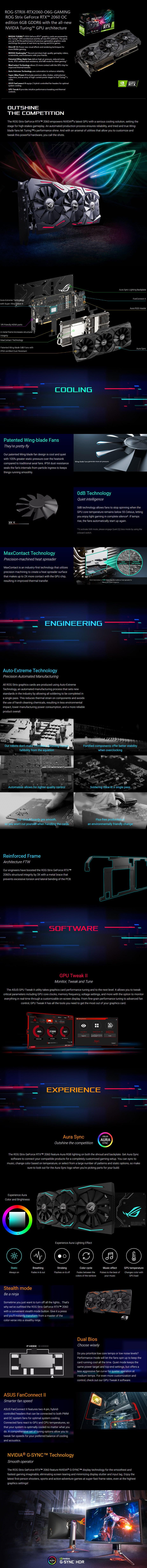 ASUS GeForce RTX 2060 ROG Strix OC 6GB Video Card - Desktop Overview 1