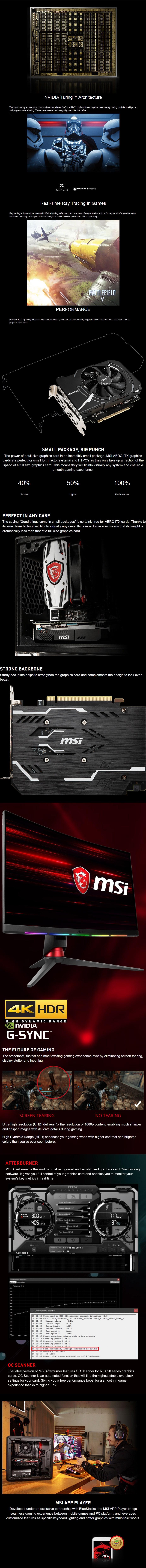 MSI GeForce RTX 2060 AERO ITX 6GB OC Video Card - Desktop Overview 1