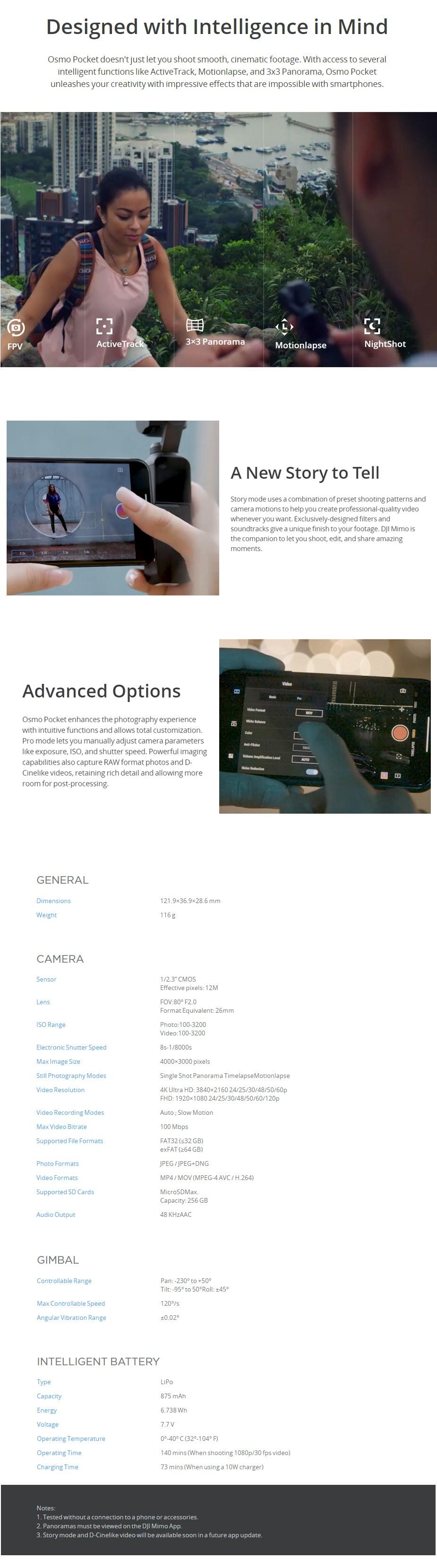DJI Osmo Pocket 4K 3-Axis Gimbal Camera - Desktop Overview 2