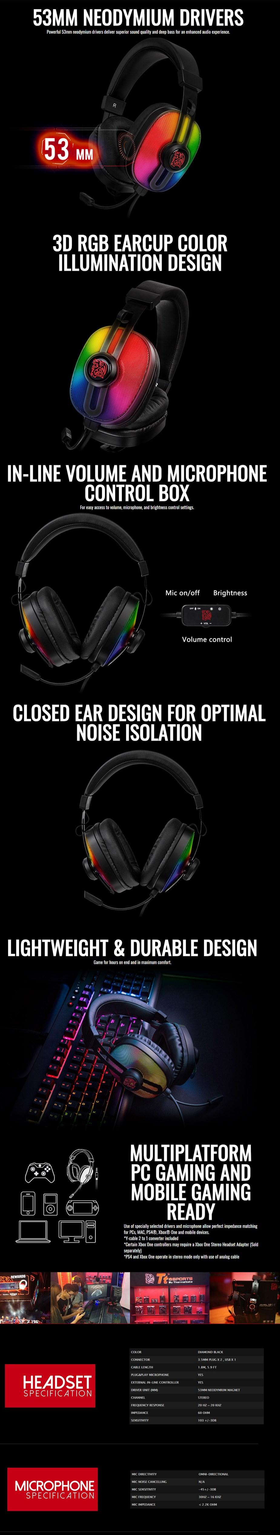 Tt eSPORTS Pulse G100 Headset - Desktop Overview 1
