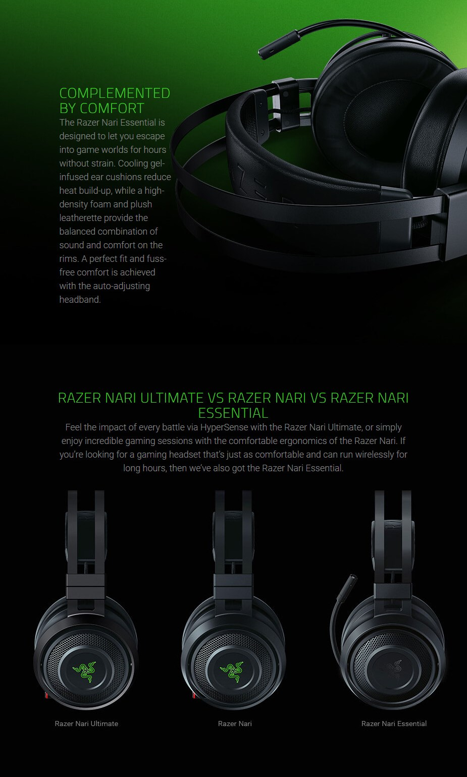 Razer Nari Essential Wireless Gaming Headset - Desktop Overview 3