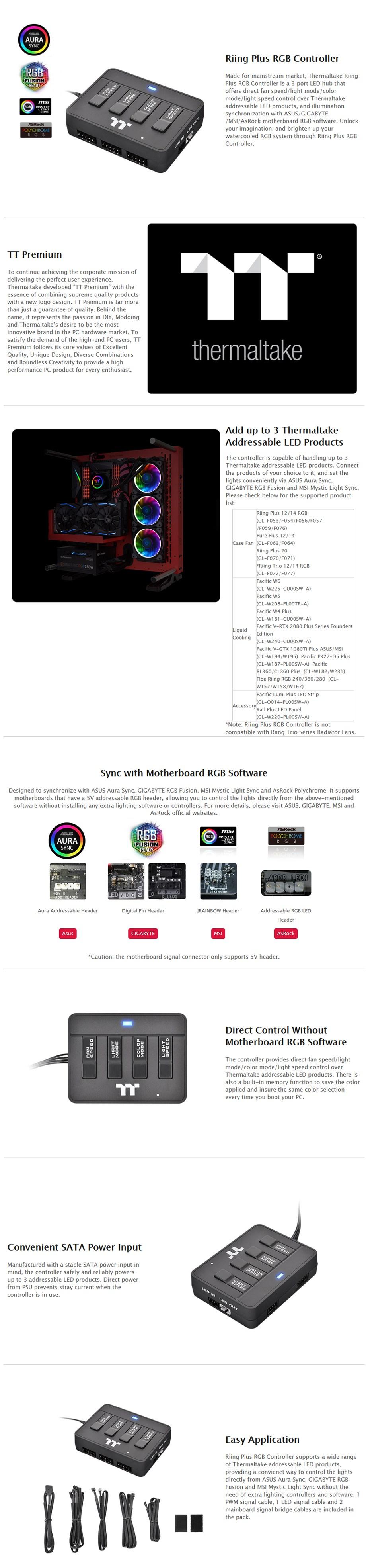 Thermaltake Riing Plus RGB Fan Controller - Desktop Overview 1