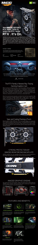 Inno3D GeForce RTX 2060 Twin X2 6GB Video Card - Desktop Overview 1