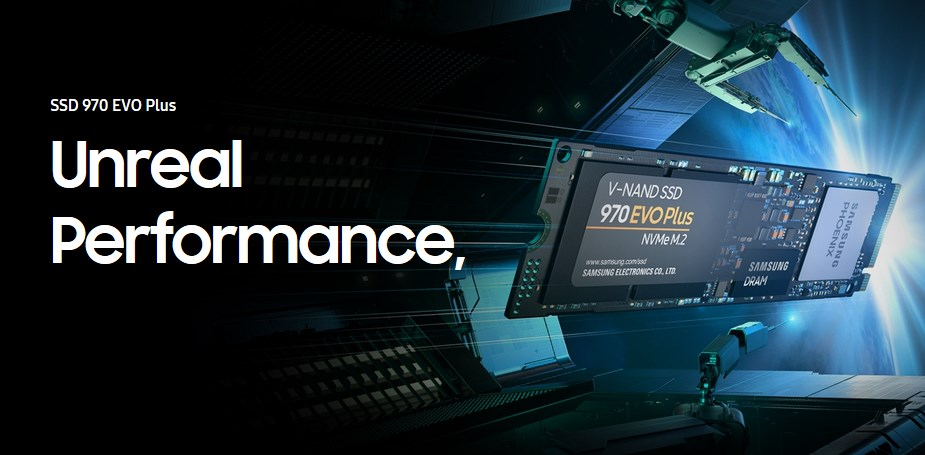 Samsung 970 EVO Plus 1TB NVMe 1.3 M.2 (2280) 3-Bit V-NAND SSD - MZ-V7S1T0BW - Desktop Overview 1