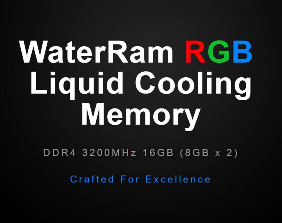 Thermaltake WaterRam 16GB (2x 8GB) 3200MHz DDR4 Liquid Cooled Memory - Desktop Overview 1