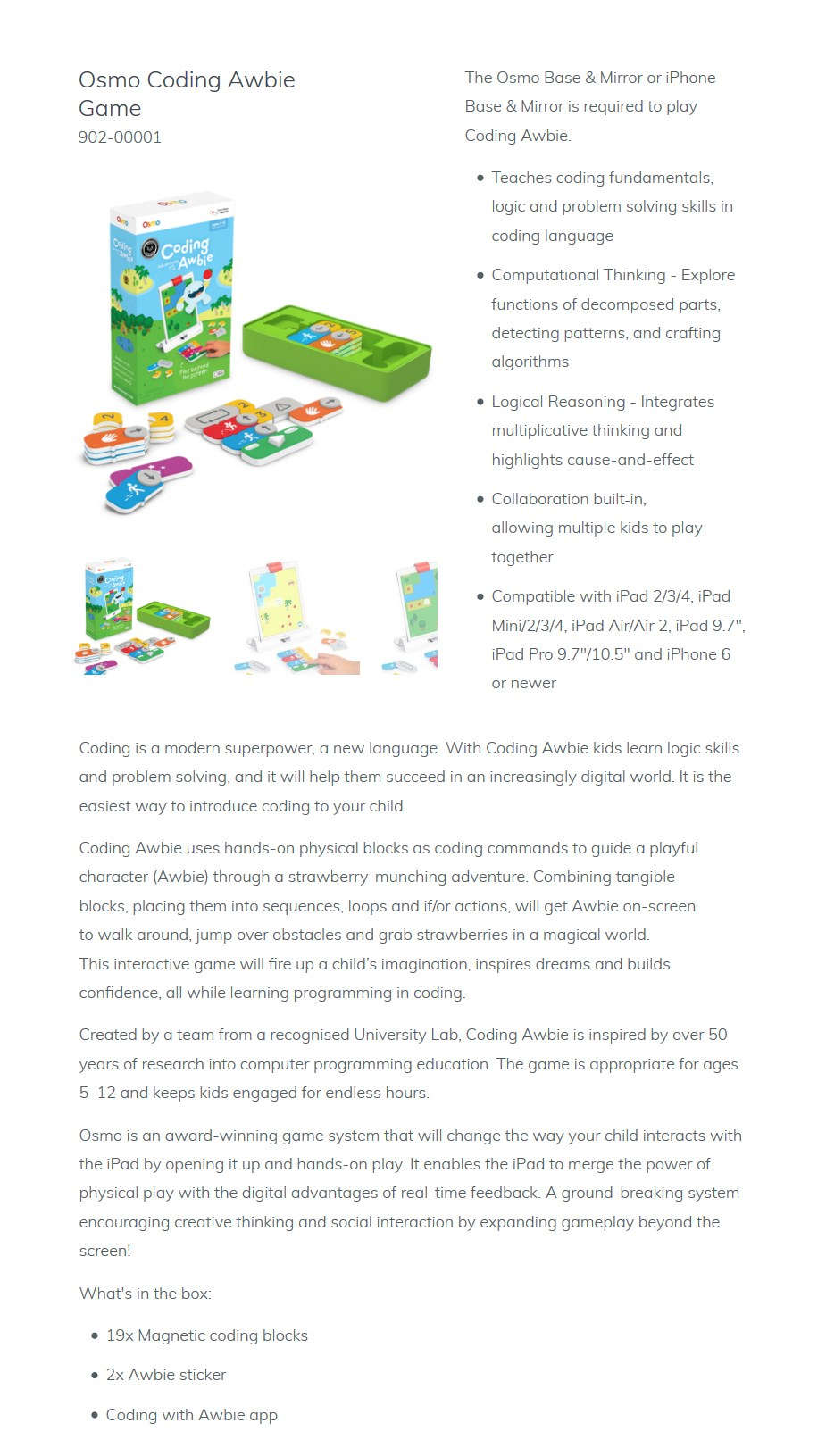 Osmo Coding Awbie Game for iPhone & iPad - Desktop Overview 2