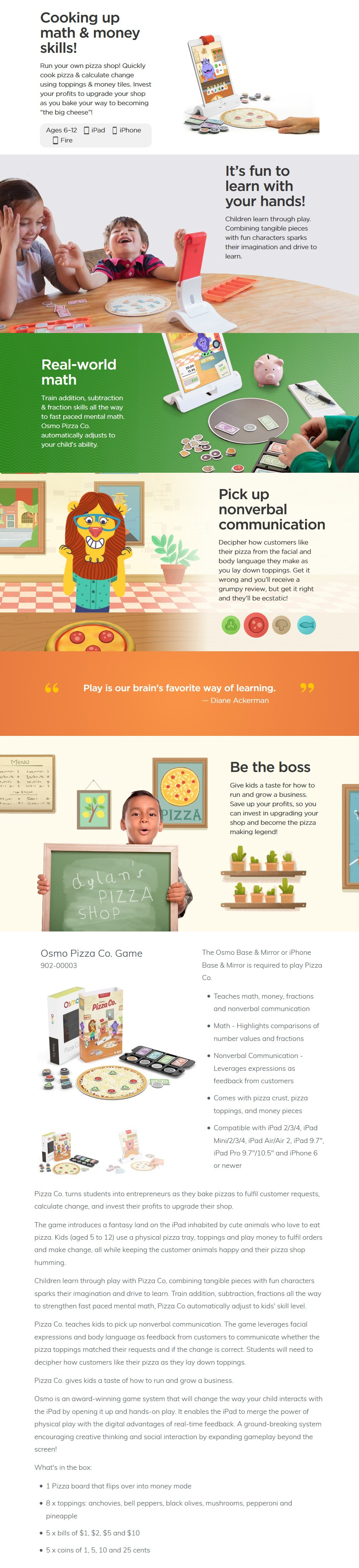 Osmo Pizza Co. Game for iPhone & iPad - Desktop Overview 1