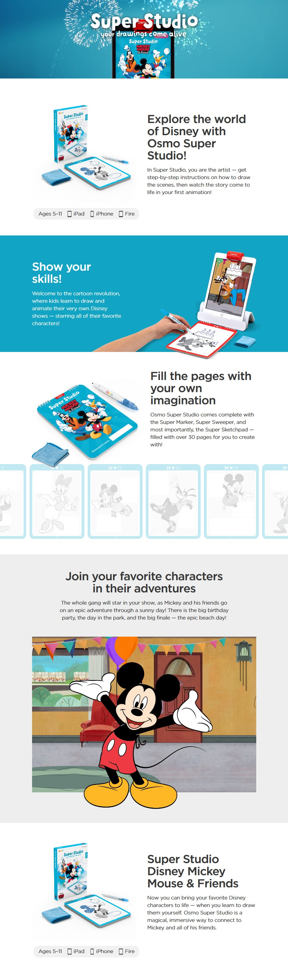 Osmo Super Studio - Mickey Mouse & Friends - Desktop Overview 1