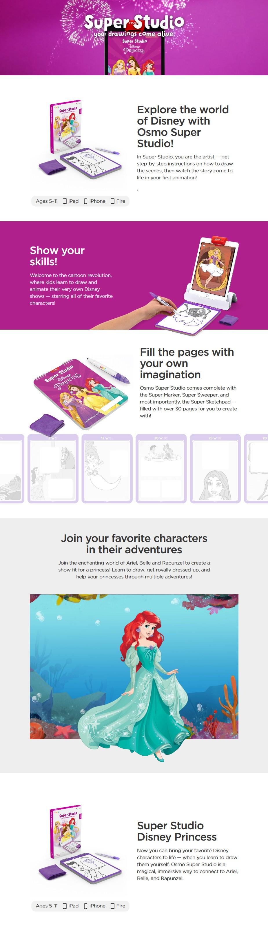 Osmo Super Studio - Disney Princess for iPad - Desktop Overview 1
