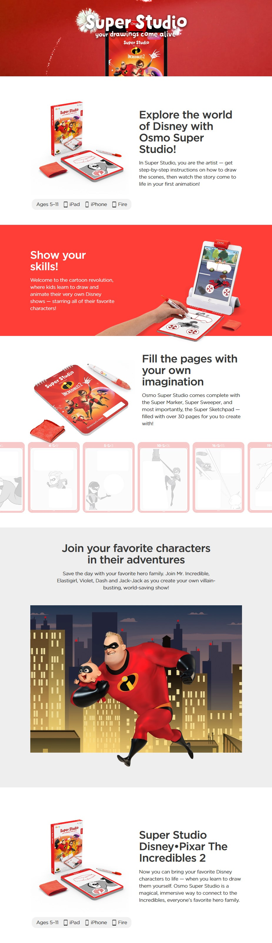 Osmo Super Studio - The Incredibles 2 for iPad - Desktop Overview 1