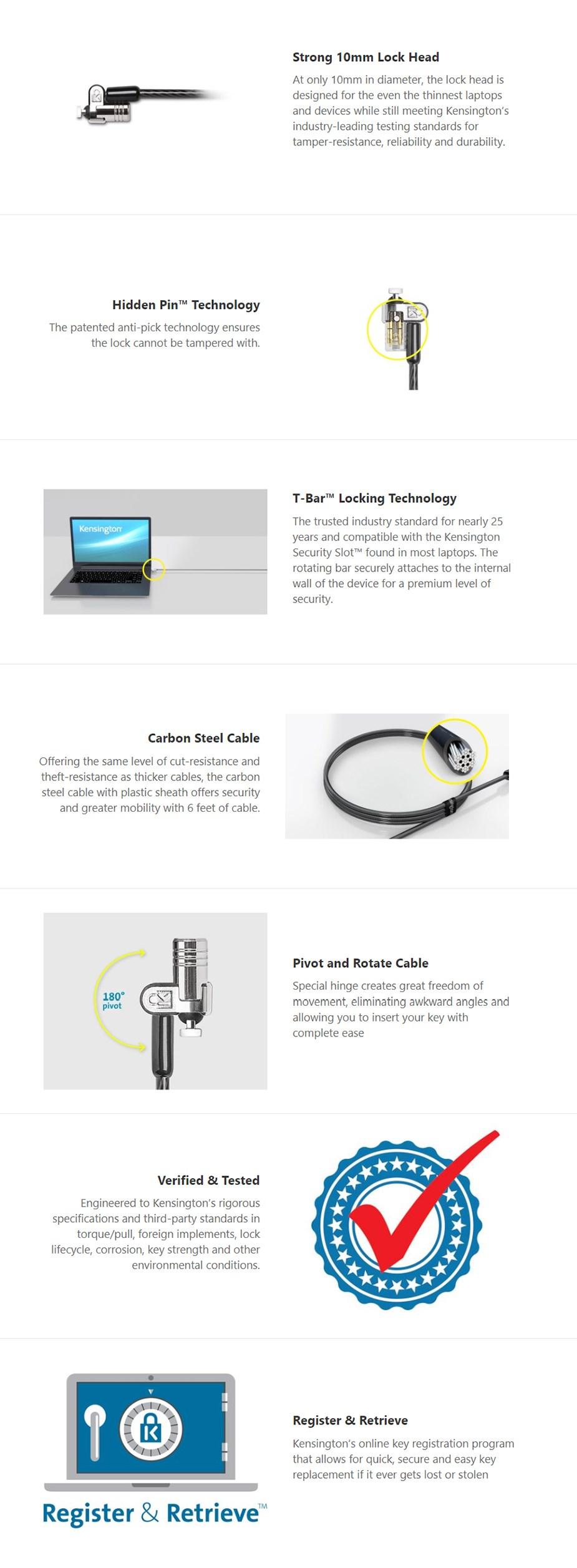 Kensington MicroSaver 2.0 Keyed Laptop Lock - Master (25 Pack) - Desktop Overview 1