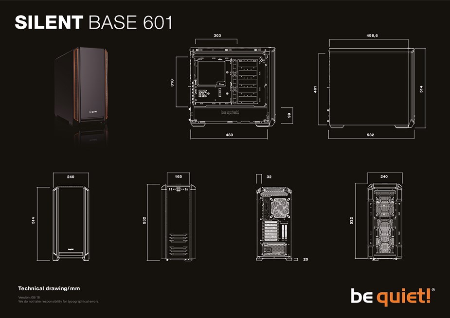 be quiet! Silent Base 601 Mid-Tower E-ATX Case - Silver - Desktop Overview 2