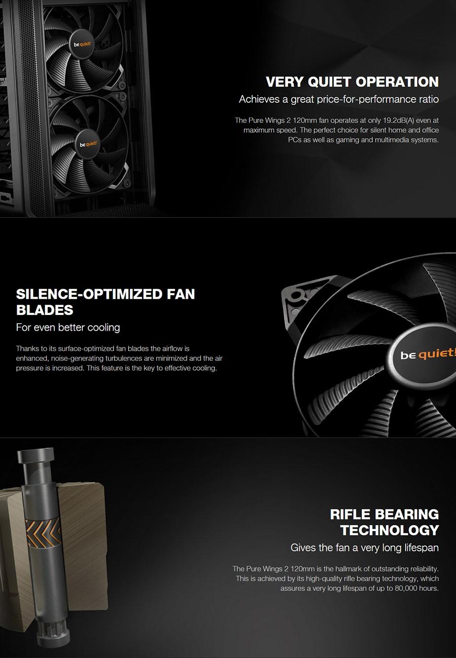 be quiet! Pure Wings 2 120mm Case Fan - Desktop Overview 1