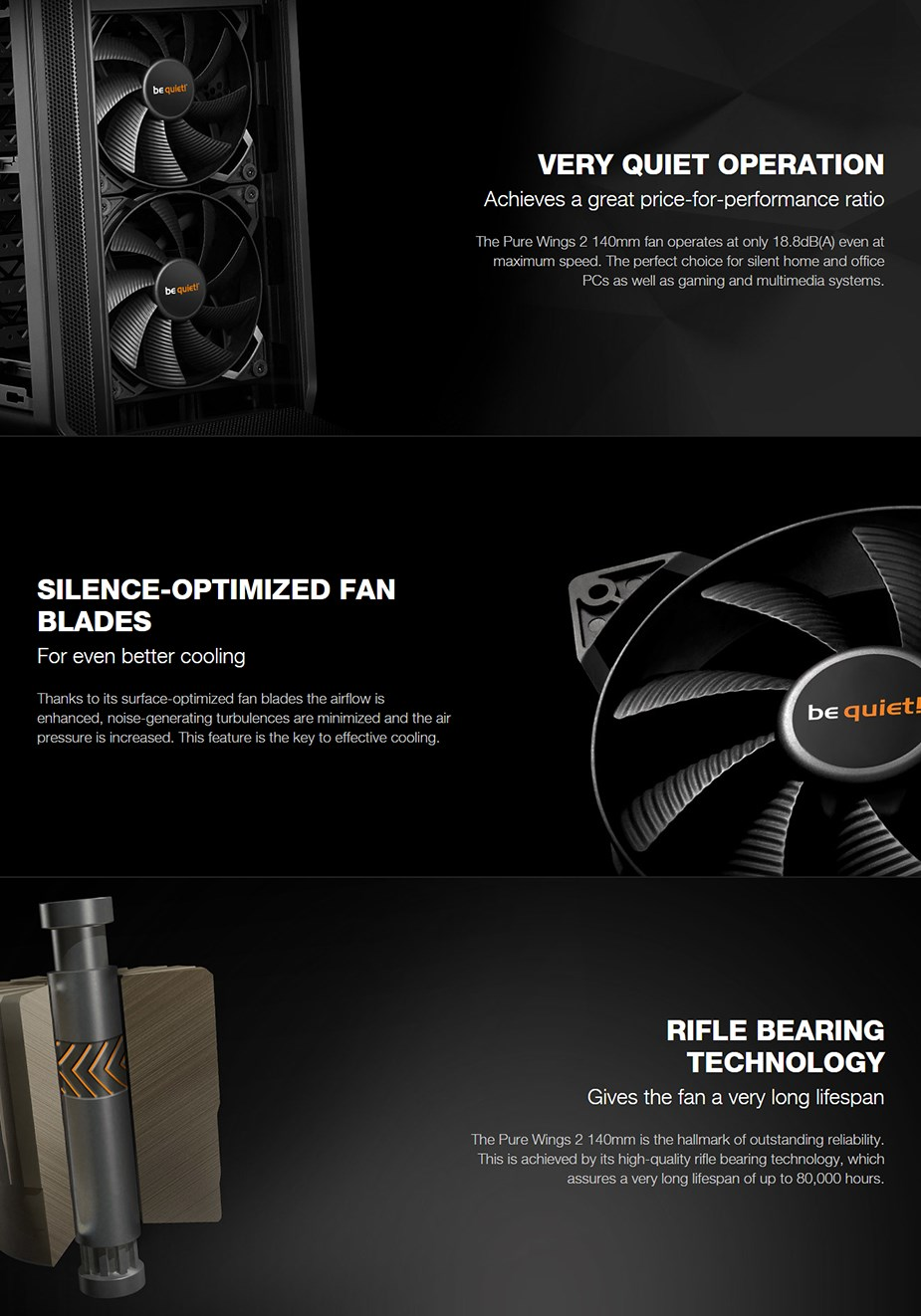 be quiet! Pure Wings 2 140mm Case Fan - Desktop Overview 1