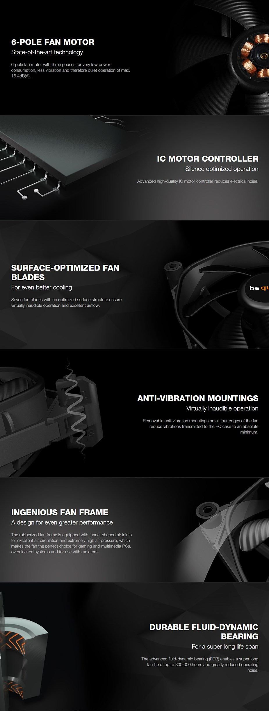 be quiet! Silent Wings 3 120mm Case Fan - Desktop Overview 1