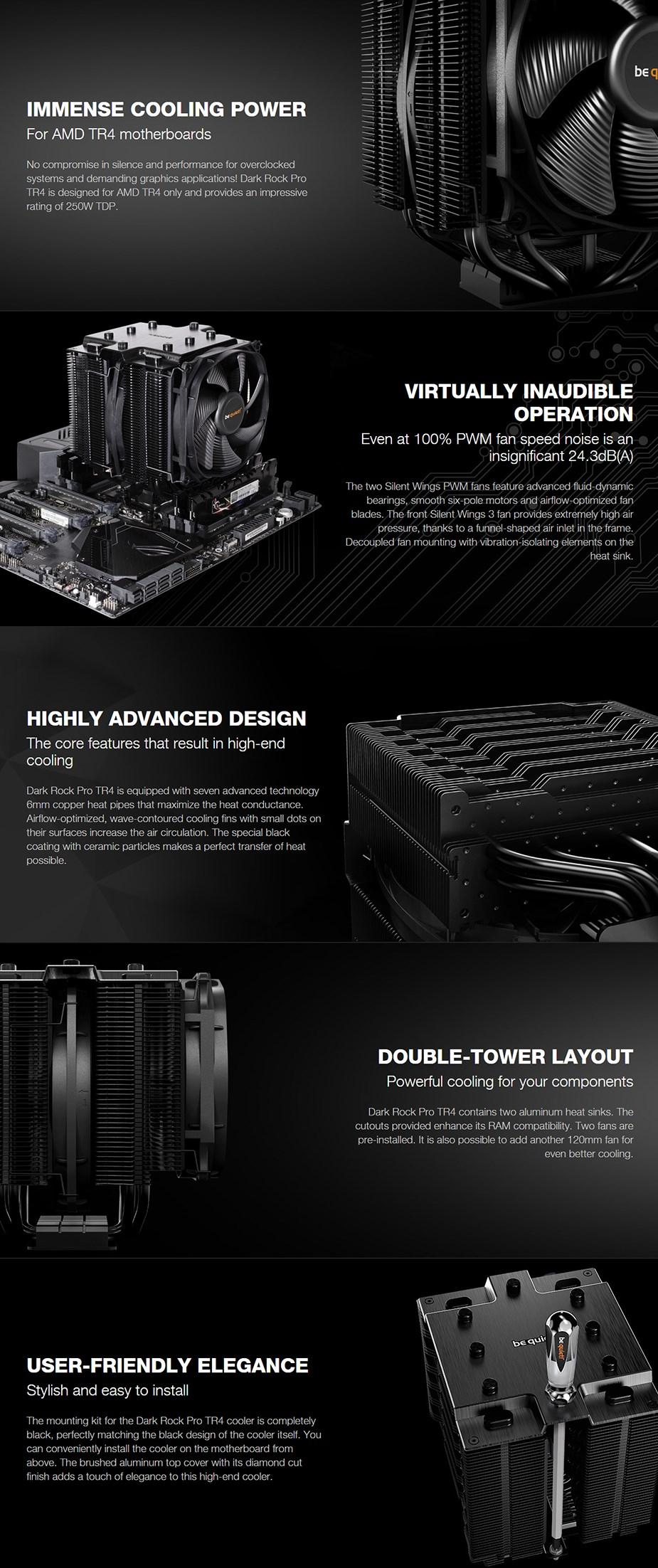 be quiet! Dark Rock Pro TR4 CPU Air Cooler - Desktop Overview 1