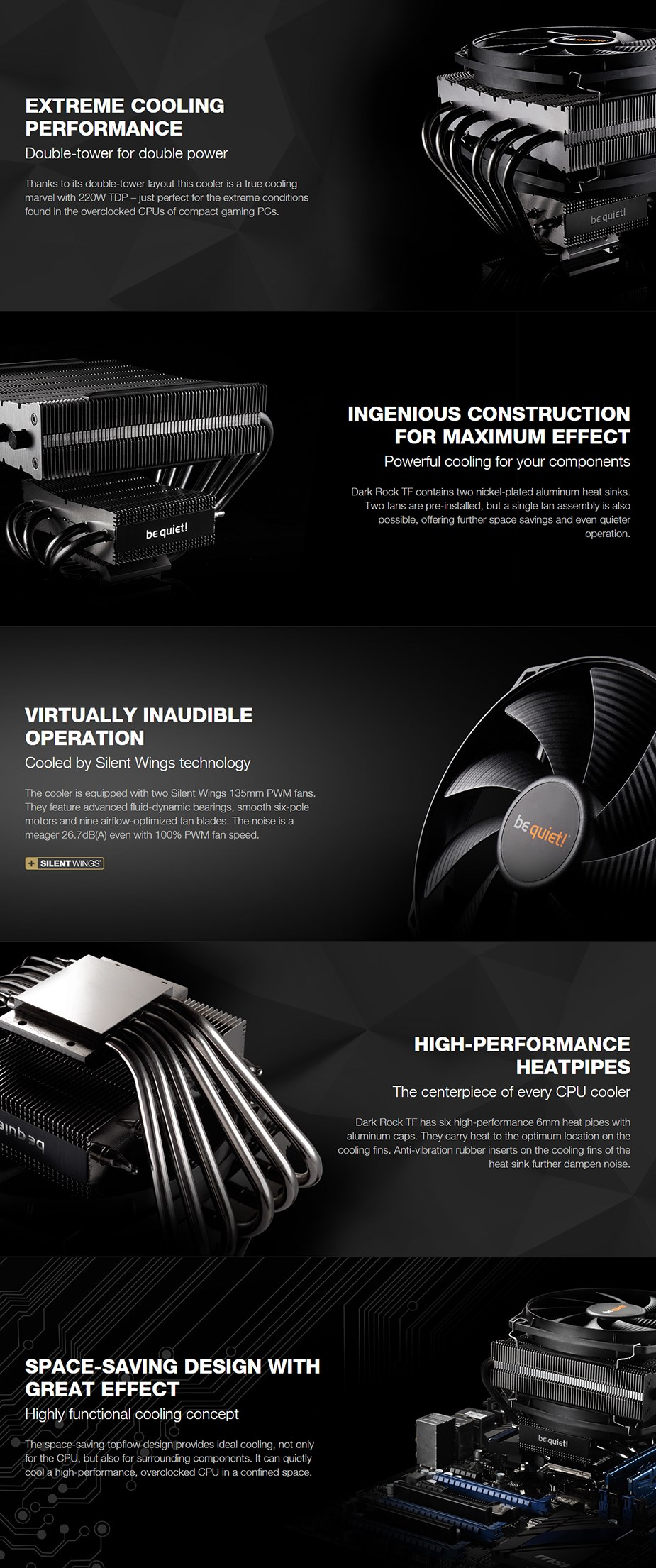 be quiet! Dark Rock Pro TF CPU Air Cooler - Desktop Overview 1