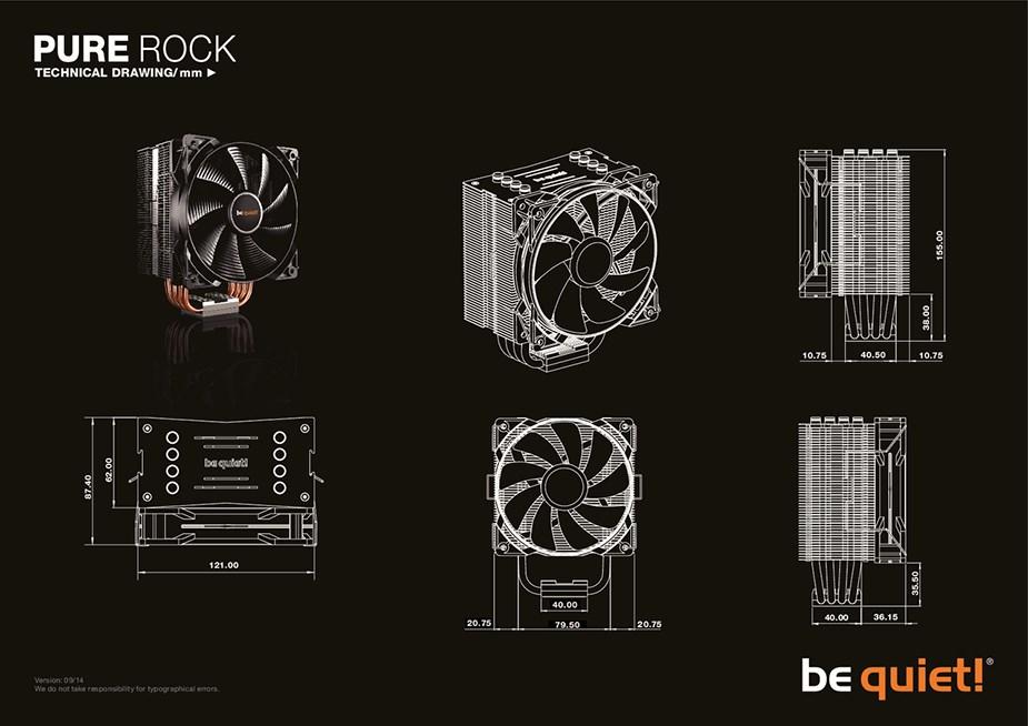 be quiet! Pure Rock CPU Air Cooler - Desktop Overview 2