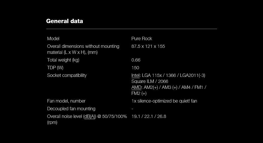 be quiet! Pure Rock CPU Air Cooler - Desktop Overview 3