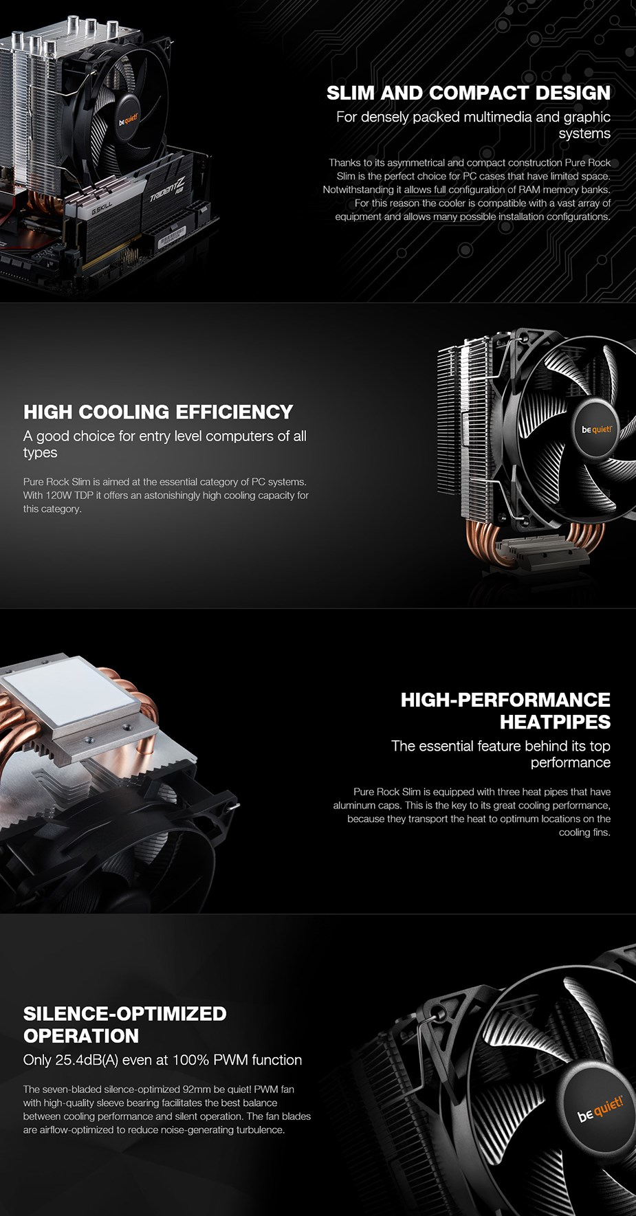be quiet! Pure Rock Slim CPU Air Cooler - Desktop Overview 1