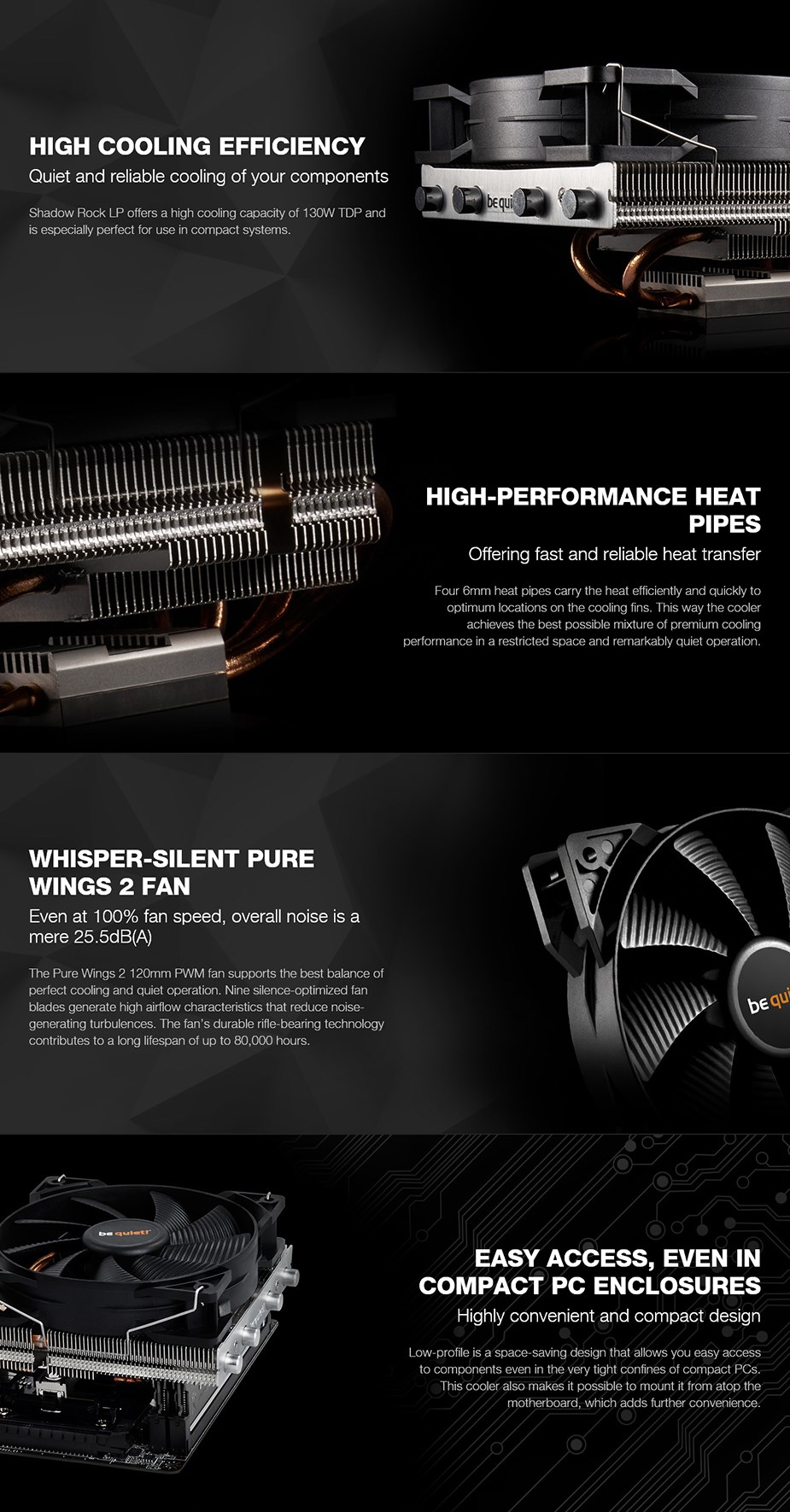 be quiet! Shadow Rock LP CPU Air Cooler - Desktop Overview 1