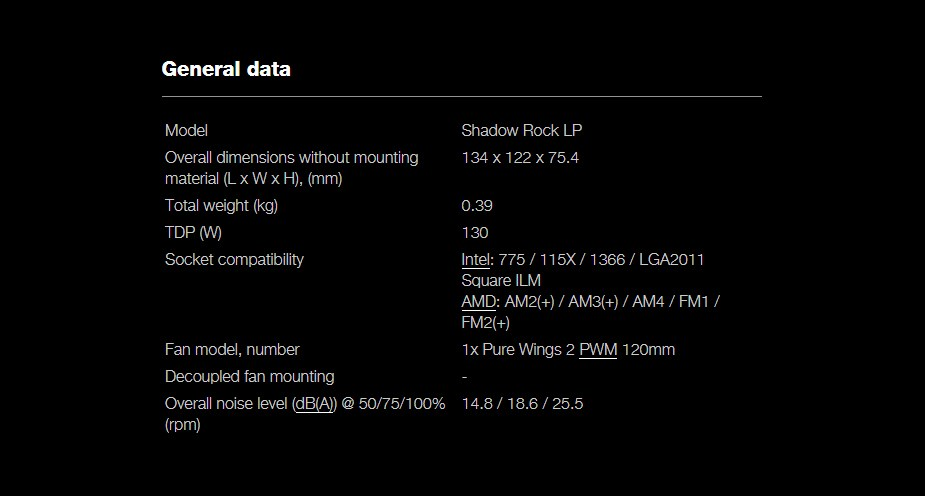 be quiet! Shadow Rock LP CPU Air Cooler - Desktop Overview 3
