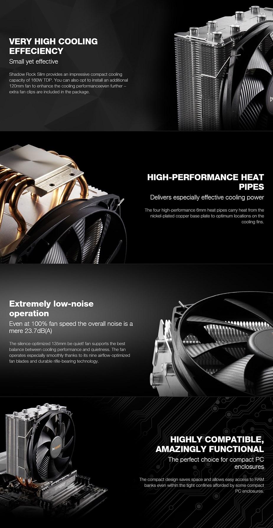 be quiet! Shadow Rock Slim CPU Air Cooler - Desktop Overview 1