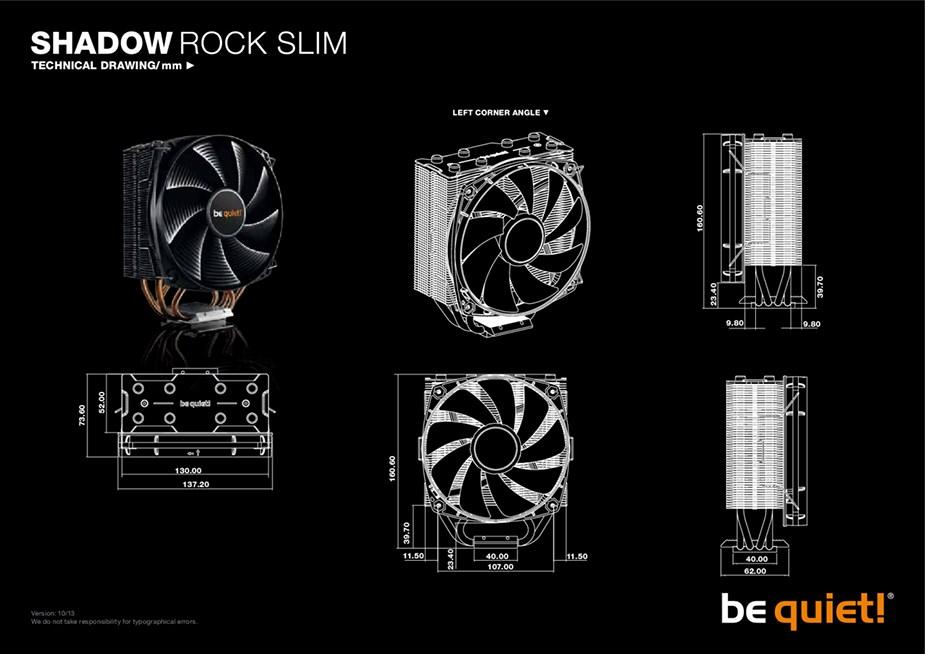 be quiet! Shadow Rock Slim CPU Air Cooler - Desktop Overview 2