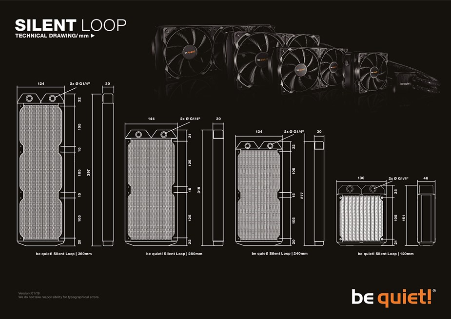 be quiet! Silent Loop 240mm Liquid CPU Cooler - Desktop Overview 2