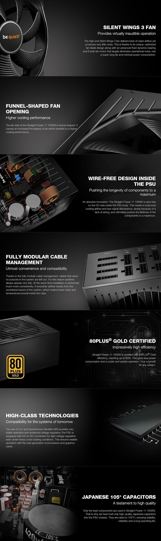 be quiet! Straight Power 11 1000W 80+ Gold Modular Power Supply - Desktop Overview 1