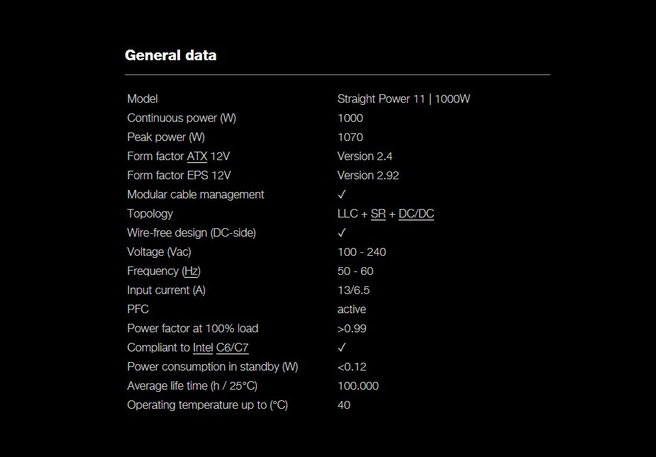be quiet! Straight Power 11 1000W 80+ Gold Modular Power Supply - Desktop Overview 3