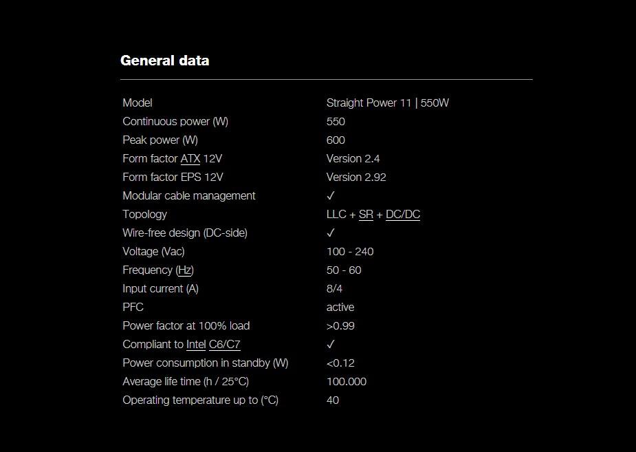 be quiet! Straight Power 11 550W 80+ Gold Modular Power Supply - Desktop Overview 3