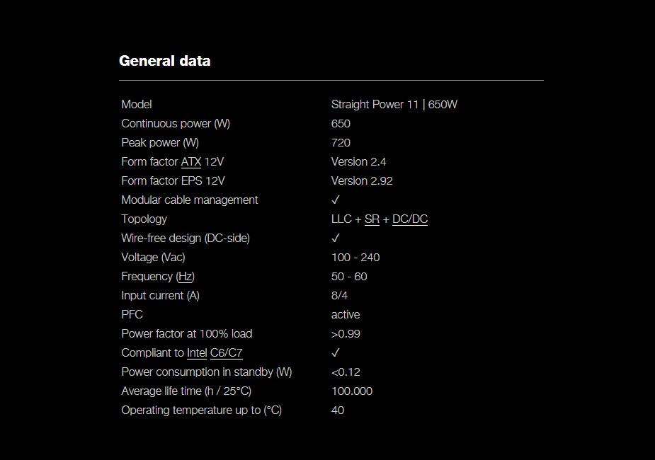 be quiet! Straight Power 11 650W 80+ Gold Modular Power Supply - Desktop Overview 3