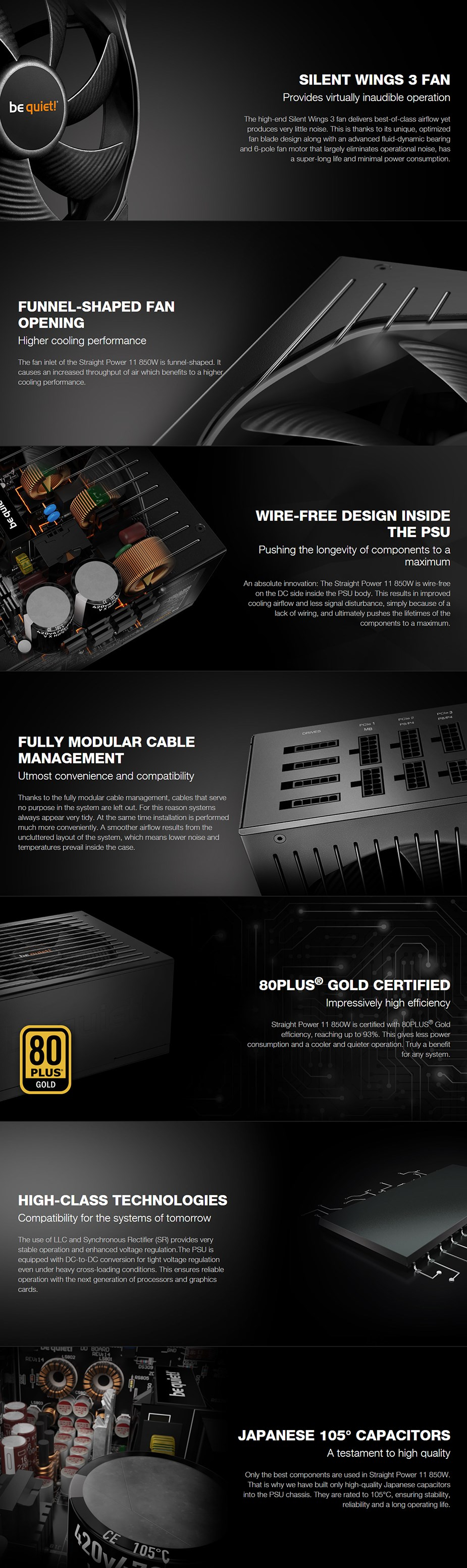 be quiet! Straight Power 11 850W 80+ Gold Modular Power Supply - Desktop Overview 1