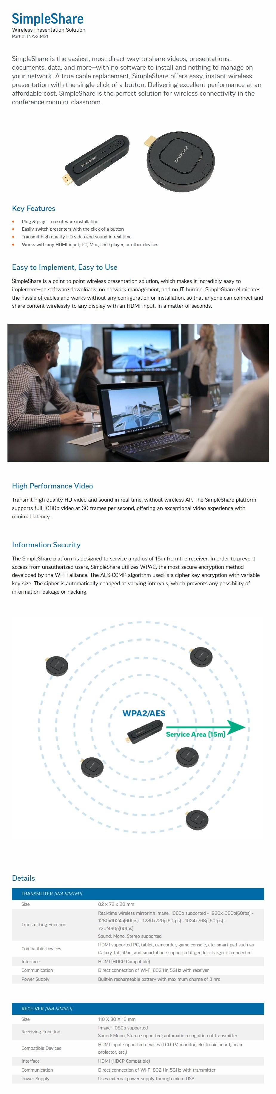 InFocus SimpleShare Wireless Presentation Solution - Desktop Overview 2