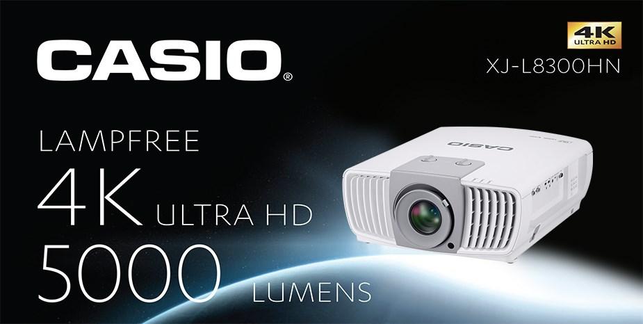 Casio XJ-L8300HN 4K Ultra HD 5000 Lumens SSI DLP Projector - Desktop Overview 1