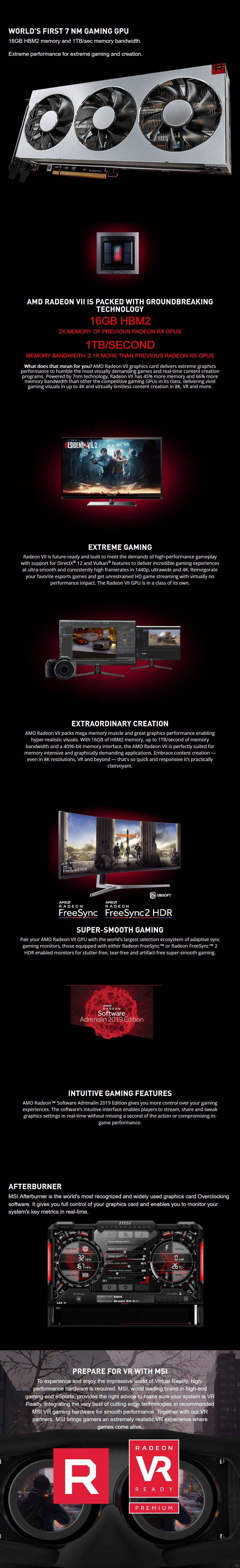 MSI Radeon VII 16GB Video Card - MSI Radeon VII 16GB | Mwave