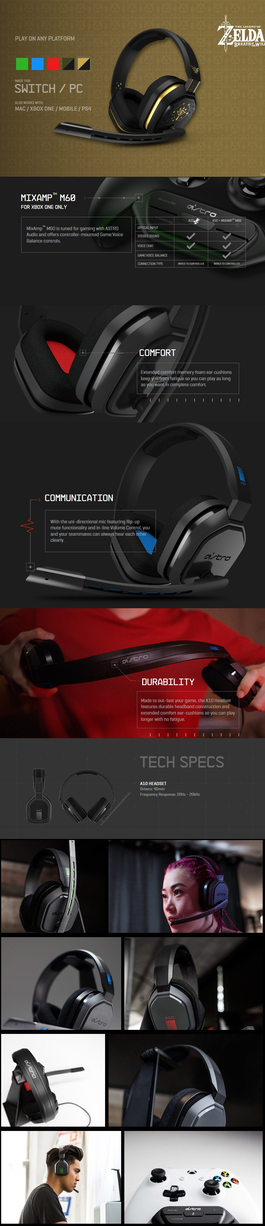 ASTRO A10 Gaming Headset for Nintendo Switch - Zelda Edition