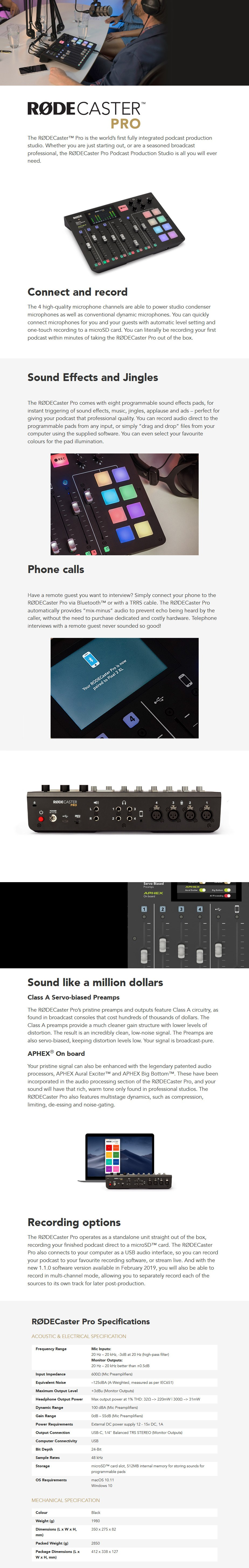 RODE RODECaster Pro Podcast Production Console - Desktop Overview 1