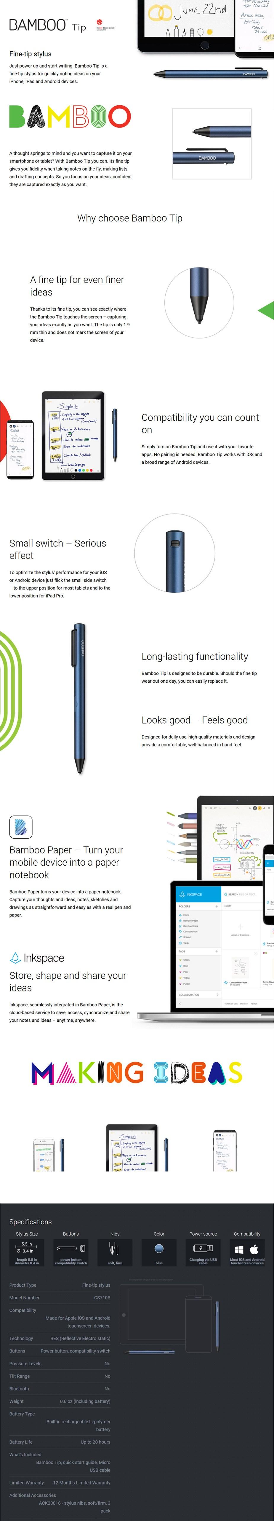 Wacom Bamboo Tip Stylus - Desktop Overview 1